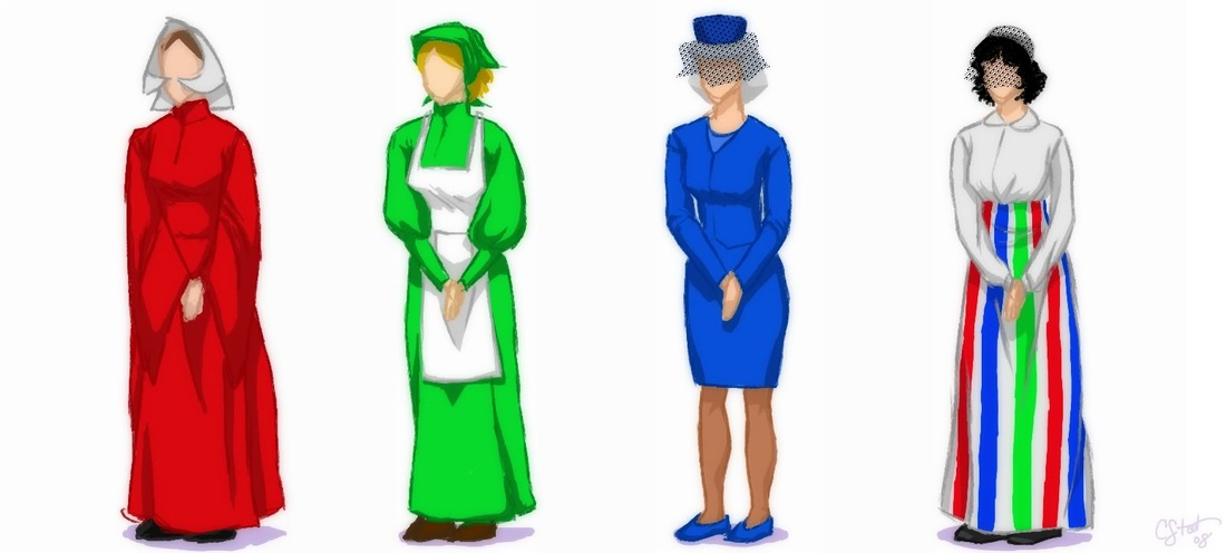 Image result for the handmaid's tale dress colors